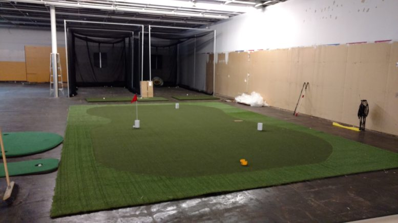 The golf team was able to fund some new equipment and technology to make better use of the facility in preparation for their season.